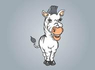 Link toZebra cartoon vector free
