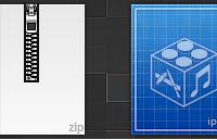 Link toZip and ipsw icons psd