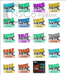 Link toZip software desktop icons